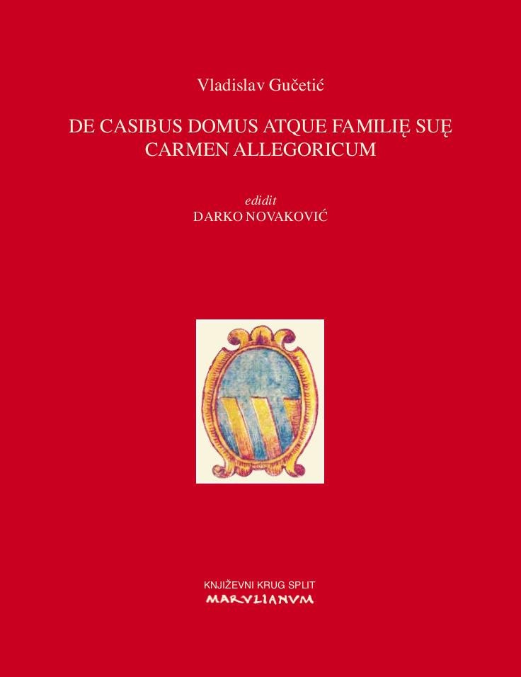 Naslovnica V. Gučetić, De casibus, 2018.