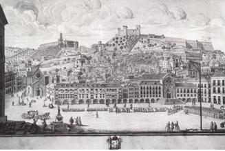 Trg Rossio prije potresa, Francisco Zuzzarte 1878.