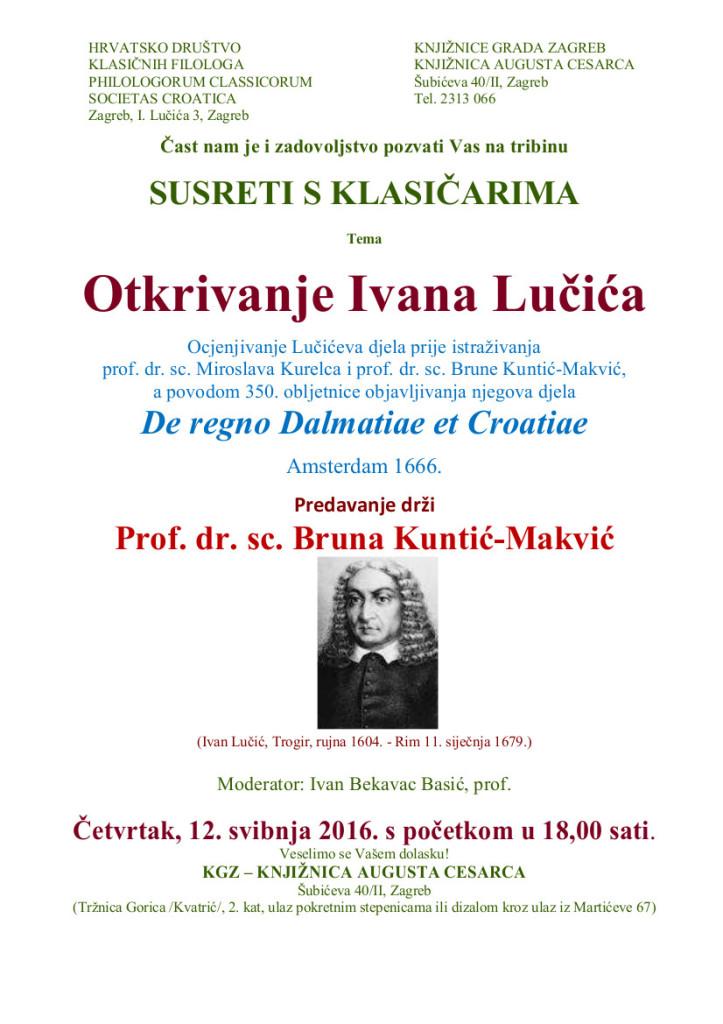 350 godina De Regno ... plakatic Susreti s klasicarima  12 5 2016