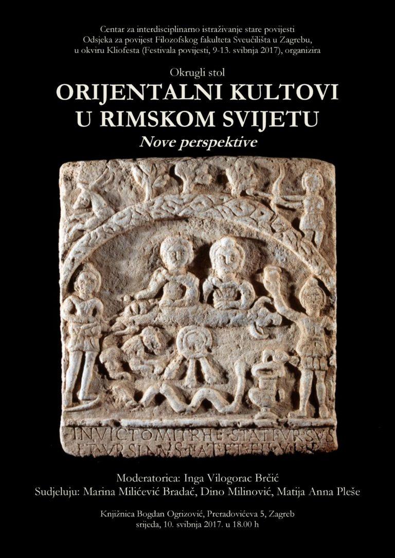 CISP – Okrugli stol 'Orijentalni kultovi u rimskom svijetu: nove perspektive' (PRESS)
